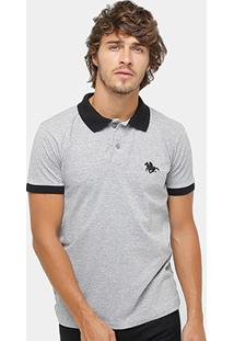 Camisa Polo Rg 518 Maquinetada Poa Bordada Masculina - Masculino