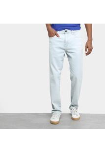 Calça Jeans Slim Ellus Delavê Masculina - Masculino-Jeans