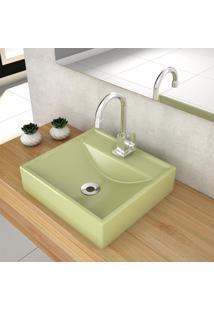 Cuba De Apoio Para Banheiro Compace Ravena Q39W Quadrada Verde