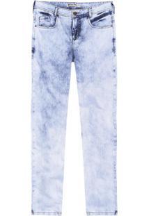 Calça Masculina Em Jeans Hering Skinny Com Efeito Marmorizado