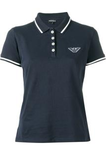 Emporio Armani Contrast Trim Polo Shirt - Azul
