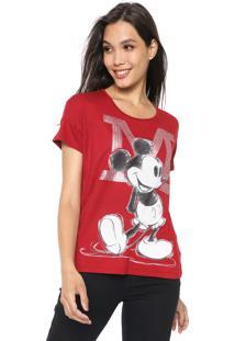 Blusa Cativa Disney Paetê Vermelha