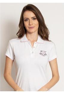 Camisa Polo Aleatory Lisa Piquet Seal Feminina - Feminino