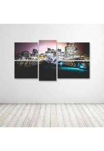 Quadro Decorativo - Cool Urban City - Composto De 5 Quadros