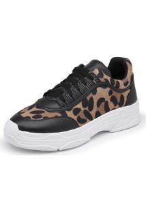 Sapatênis Sola Alta Top Franca Shoes Marrom