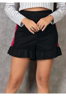 Shorts Bicolor Com Babado
