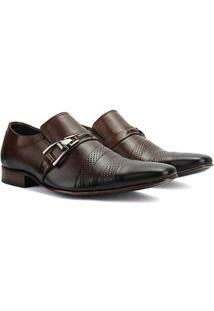 Sapato Social Bigioni Couro Masculino - Masculino-Marrom