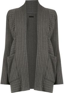Osklen Cardigan Com Textura - Cinza