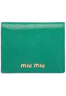 Miu Miu Carteira Com Estampa De Lagarto - Verde