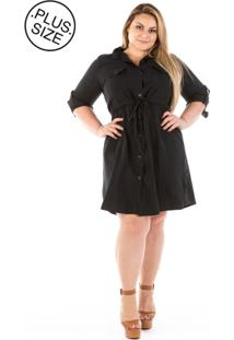 Vestido Chemisie Plus Size - Confidencial Extra Jeans London Plus Size