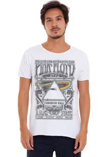 Camiseta Estonada Corte À Fio Estampada Joss Pink Floyd Dark 1972