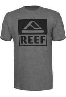 Camiseta Reef Masculina Básica Corporate - Masculino-Grafite+Preto
