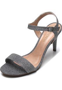 Sandália D.Dress Glitter Prata