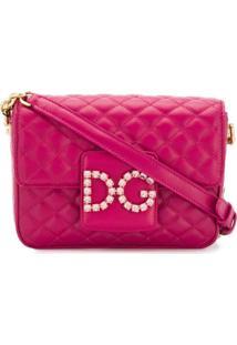 Dolce & Gabbana Bolsa Transversal Dg - Roxo