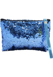 Clutch Minas De Presentes Lantejoulas Azul