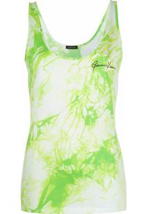 Versace Blusa Sem Mangas Com Estampa Tie-Dye - Verde