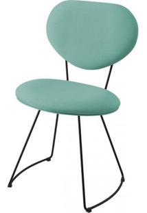 Cadeira Pimpom Azul Tiffany Com Base Curve Preta 51Cm - 61245 - Sun House