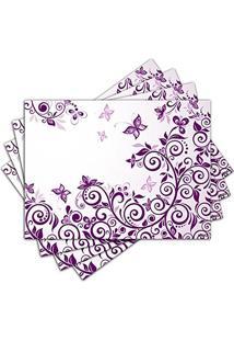 Jogo Americano - Floral Com 4 Peças - 117Jo