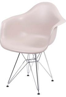 Cadeira Eames Com Braco Base Cromada Fendi Fosco - 35820 Sun House