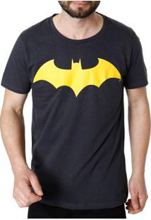 Camiseta Manga Curta Masculina Batman Cinza