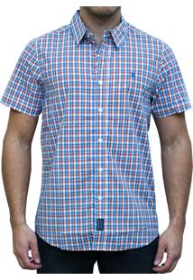 Camisa Kevingston Stripe Ii Manga Curta Laranja
