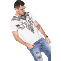 45bf316be6 Camiseta Cavalera Caveira Bode Branca