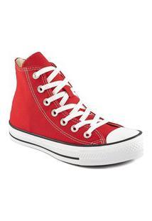 Tênis Converse Chuck Taylor All Star Cano Alto Ct0004 Converse Vermelho