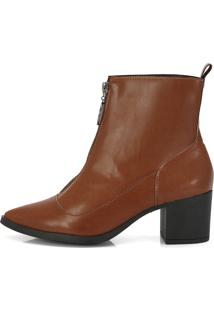 Bota Not-Me Lince Cano Curto Bico Fino Chocolate