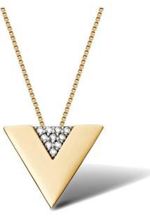Pingente Ouro Amarelo E Diamantes 13 Mm