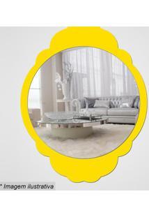 Espelho Retro- Espelhado & Amarelo- 35X27,5X5Cm-Cia Laser