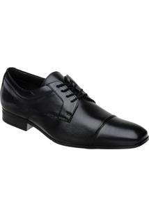 Sapato Social Couro Doctor Pé Masculino - Masculino-Preto