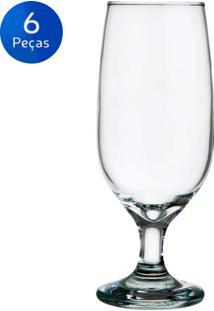 Jogo De Taças De Cerveja Floripa 300Ml 6 Peças - Nadir - Transparente