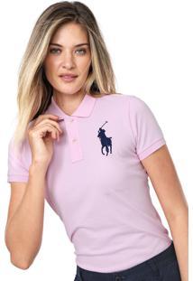 Camisa Polo Polo Ralph Lauren Lisa Rosa