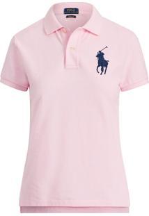 Camisa Polo Polo Ralph Lauren Skinny Rosa