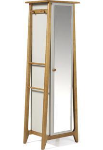Armário Multiuso 1 Porta Stoka 981 Nogal/Branco - Maxima