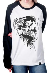 ... Camiseta Artseries Raglan Manga Longa Caveira End Of Lines Branco 771a60d5f3ffe
