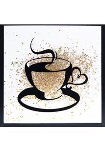 Quadro Decorativo Sandu Café- Branco & Preto- 25X25Xart Frame