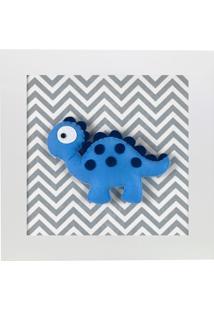 Quadro Decorativo Dino Estegossauro Quarto Bebê Infantil Menino Menina