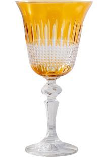 Taça De Cristal 170Ml Amarela Lodz
