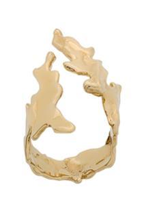 Annelise Michelson Sea Leaf Ring - Dourado