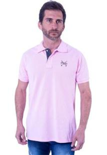 Camisa Polo England Polo Club Slim Masculina - Masculino-Rosa