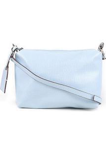 Bolsa Shoestock Mini Bag Lezard Transversal Média Feminina - Feminino-Azul Claro
