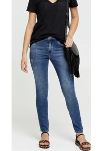 Calça Skinny Feminina Puídos Zune Jeans By Sabrina Sato
