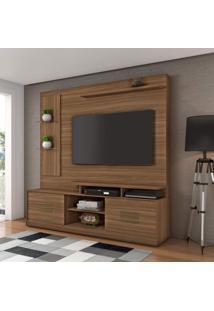 Estante Home Theater Para Tv Até 60 Polegadas 2 Portas 3 Prateleiras Jcm Móveis Rovere