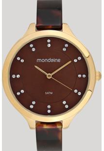 Relógio Analógico Mondaine Feminino - 53614Lpmvdf1 Marrom - Único