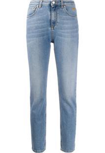 Msgm Calça Jeans Skinny Cintura Alta - Azul