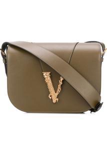 Versace Virtus Shoulder Bag - Marrom