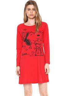 Camisola Snoopy Estampado Vermelha