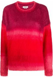 Isabel Marant Étoile Suéter Bicolor Com Recortes - Vermelho