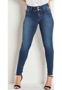 Calça Sawary Cigarrete Com 2 Botões Jeans